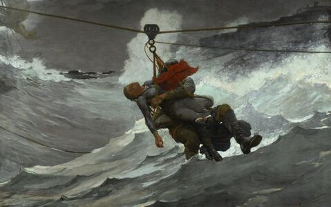 Winslow Homer, 'The Life Line', 1884