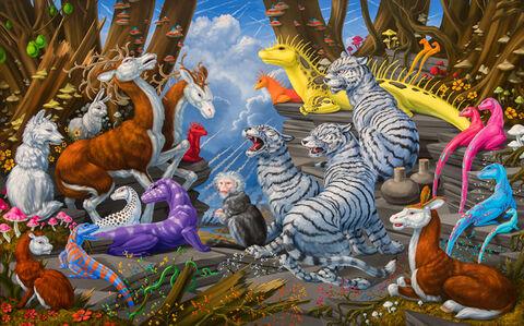 Laurie Hogin, 'Habitat Diorama with Pyromaniac Species', 2019