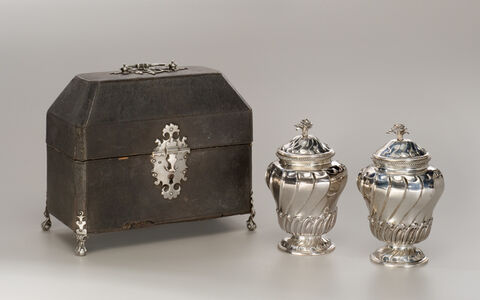Lewis Herne and Francis Butty, 'Pair of Tea Canisters with Case', 1758-1759