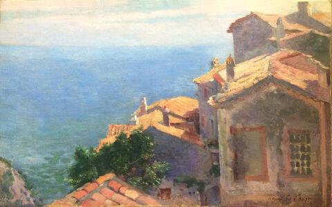 Henri-Edmond Cross, 'Village au bord de la Méditerranée, Eze', 1887