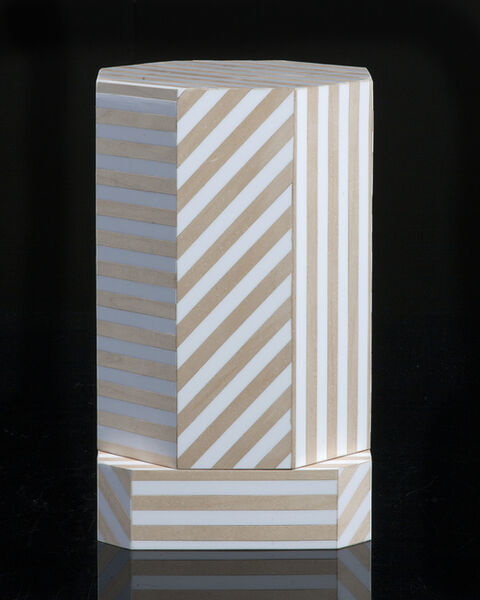 "Oeuffice, '""Ziggurat"" single container, Natural Stripes', 2012"