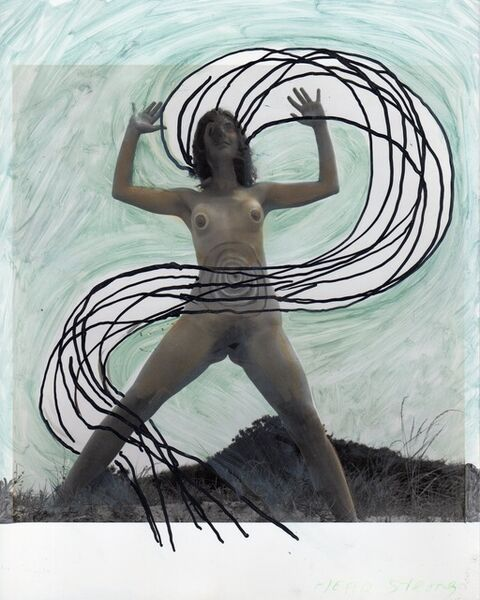 Mary Beth Edelson, 'Woman Rising with Energy Streaming (Woman Rising series)', 1973