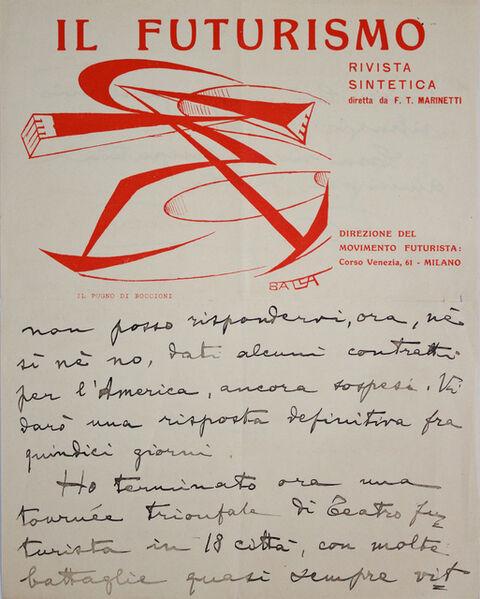 Giacomo Balla, 'Il Futurismo (2)', 1915-1923