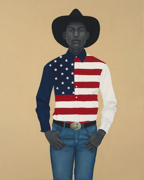 Amy Sherald, 'What's precious inside of him does not care to be known by the mind in ways that diminish its presence (All American)', 2017