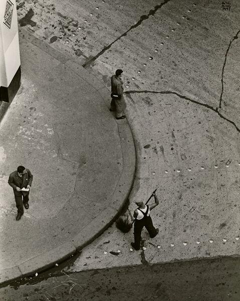 Ilse Bing, 'Street Cleaner, Paris', 1947
