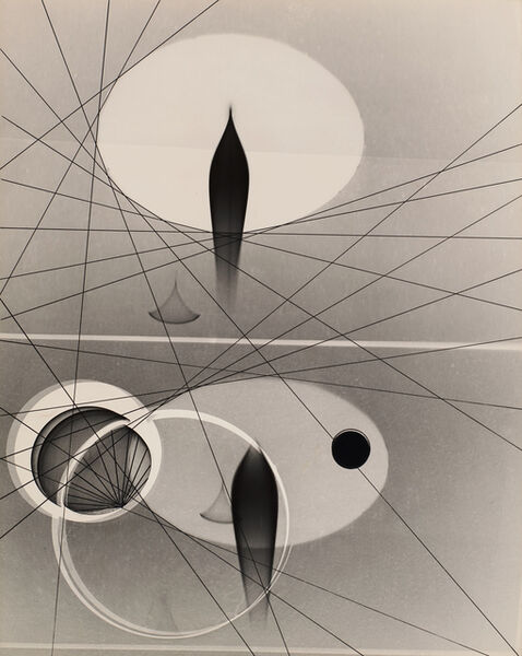 Gyorgy Kepes, 'Untitled (Abstract, ovals, crossing lines)', 1940