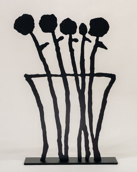 Donald Baechler, 'Black Flowers', 2019