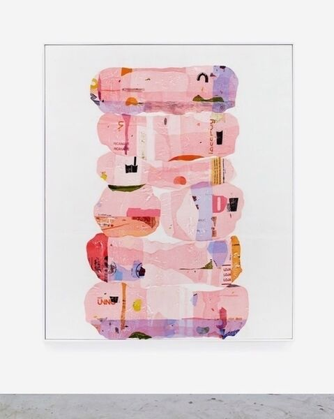 Hugo McCloud, 'consumption stacks - pink', 2018