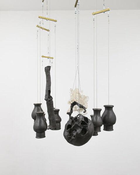 Albano Afonso, 'Natureza-Morta, com cabeça, vasos, galho e cristal [Still Life, with head, vases, branch and crystal ]', 2018