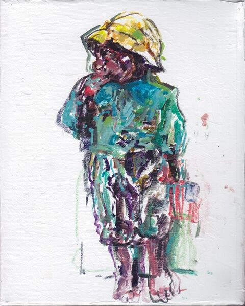Judy Glantzman, 'Dressing For the Carnival, Boy 1 after Winslow Homer', 2014