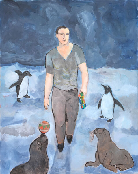 Sandro Chia, 'The Wayfarer With Penguins and Seals', 2017