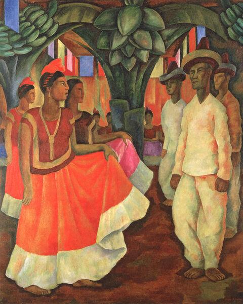 Diego Rivera, 'Dance in Tehuantepec', 1928