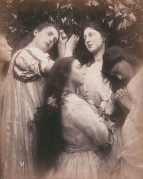 """Julia Margaret Cameron, 'Mary Hiller and Four Other Women (""""Have we not heard the Bridegroom is so sweet!"""")', 1870"""