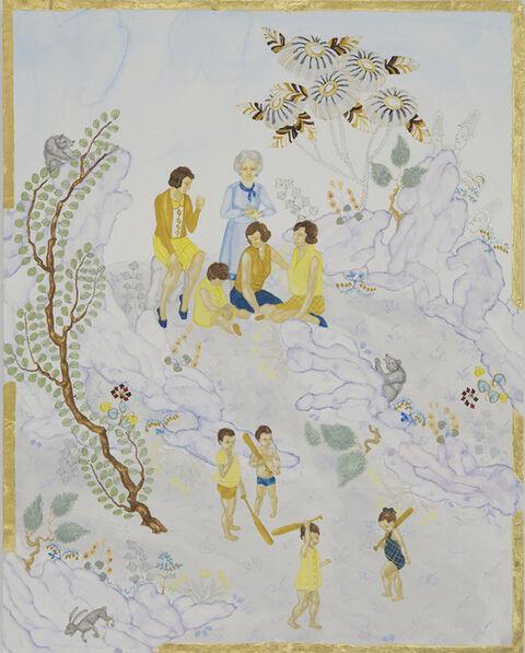 Larissa Bates, 'Dobbs Ferry Ladies Watching Children with Bats', 2011