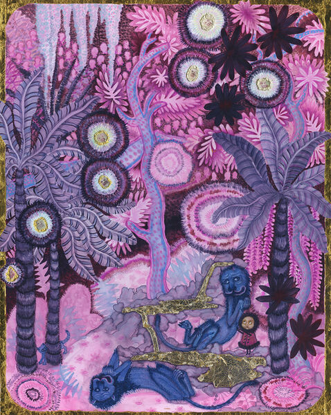 Larissa Bates, 'Pink Selva with Blue Lions and Yapa Sparks,', 2016