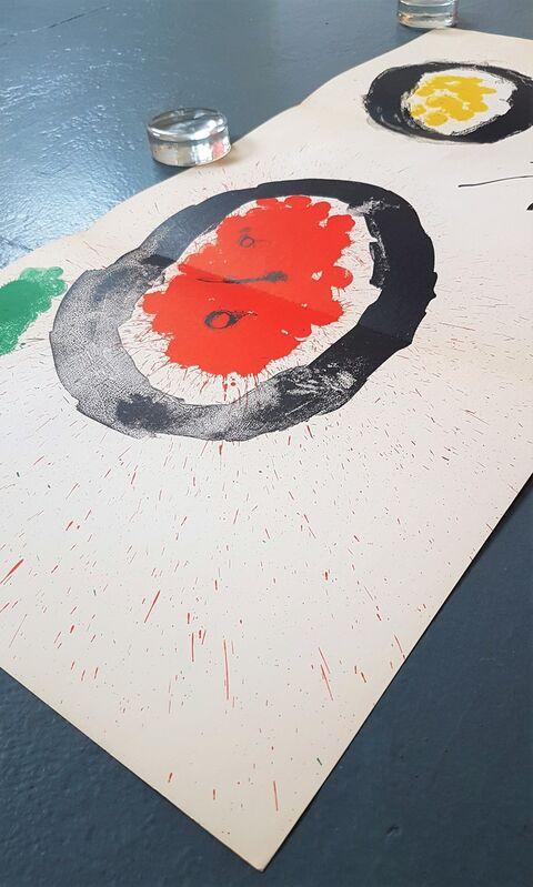 Joan Miró, 'One plate from Derrière le Miroir no. 128: Peintures Murales de Miró', 1961, Print, Color lithograph, Cerbera Gallery