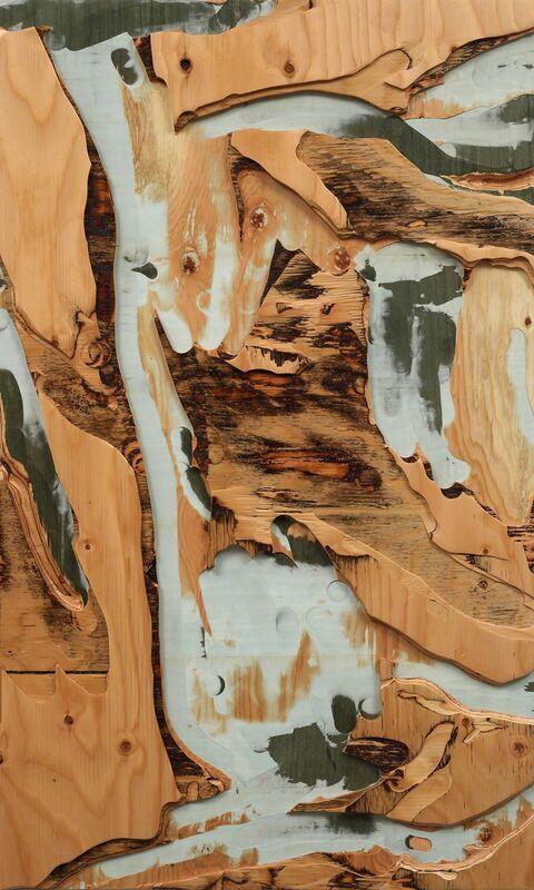 Yechel Gagnon, 'Views & Scenes III', 2017, Sculpture, Carved custom-made plywood of tinted veneers, Newzones