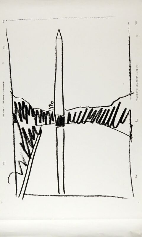 Andy Warhol, 'Washington Monument', 1974, Print, Screenprint on wallpaper (unframed), Rago/Wright/LAMA