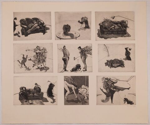WILLIAM KENTRIDGE:  Important Works (1979-1991) from an Outstanding Collection, installation view
