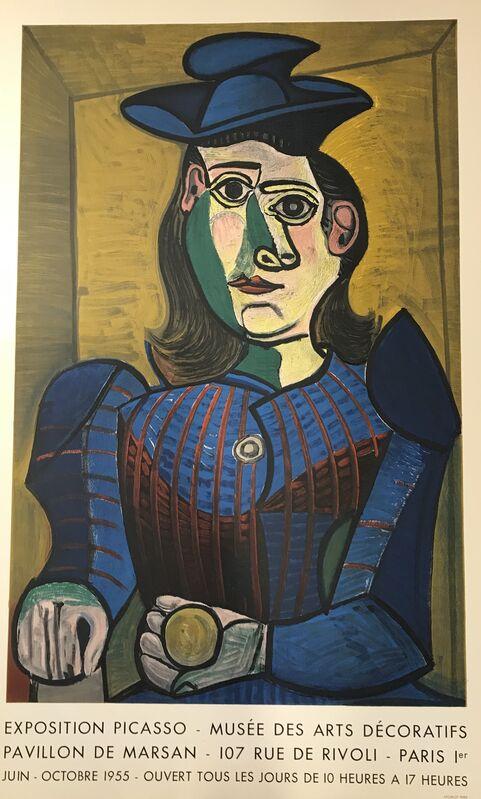Pablo Picasso, 'Buste de Femme au Chapeau Bleu – Musee des Arts Decoratifs', 1955, Posters, Lithograph Poster, Denis Bloch Fine Art