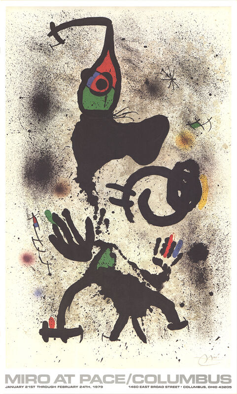 Joan Miró, 'At Pace-Columbus (vertical)', 1979, Ephemera or Merchandise, Offset Lithograph, ArtWise