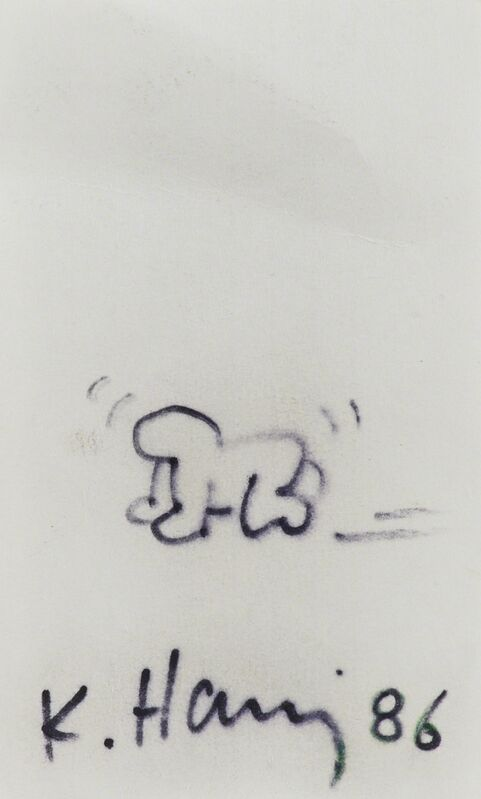 Keith Haring, 'Crawling Baby sketch', 1986, Drawing, Collage or other Work on Paper, Felt tip maker on index card, Rago/Wright