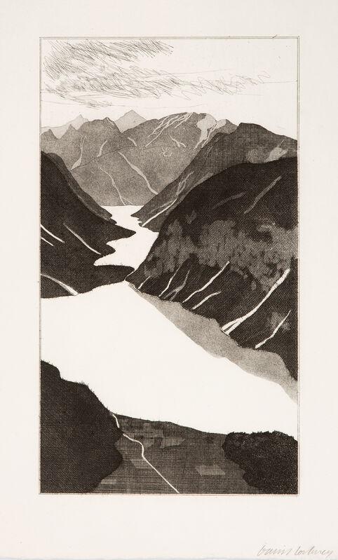 David Hockney, 'The Lake ', 1969, Print, Etching and Aquatint, Gerrish Fine Art