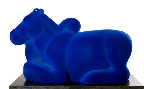 Arunkumar H. G., 'Nandi in blue', 2008