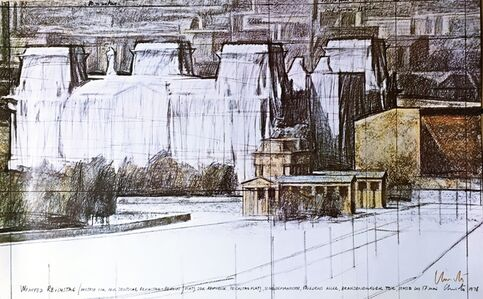 Christo, 'Wrapped Reichstag (Hand Signed)', 1978