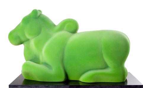 Arunkumar H. G., 'Nandi in green', 2008