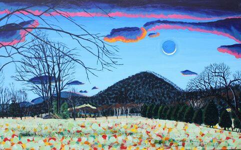John Borden Evans, 'Crescent Moon over Solitude', 2020