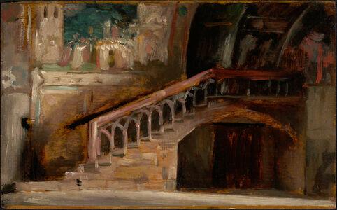Carolus-Duran, 'View in the Lower Church of San Francesco in Assisi', 1876