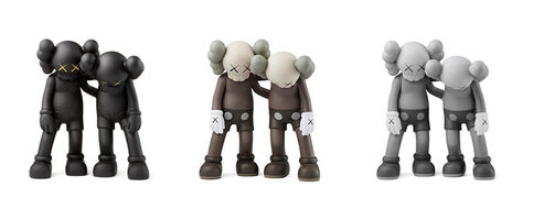KAWS, 'Along The Way (Set of 3) Black, Brown and Grey', 2019