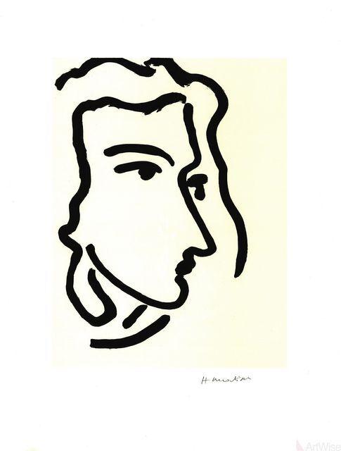 Henri Matisse-Grande Tete De Katia-1995 Poster