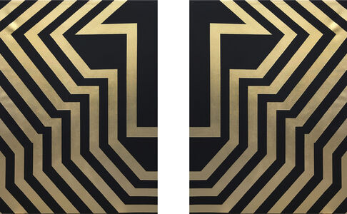 Tavar Zawacki aka ABOVE, 'Pulse (Gold left and right)', 2017
