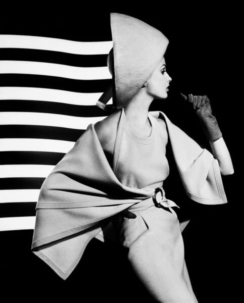 William Klein, 'Dorothy + white light stripes', 1962