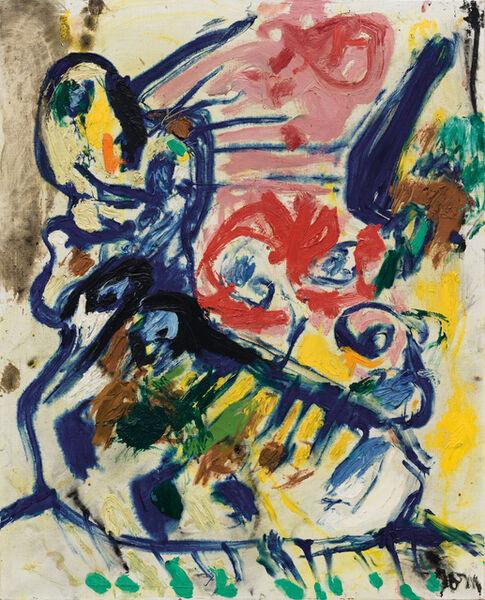 Asger Jorn, 'La caresse atroce (The fiendish caress)', 1960