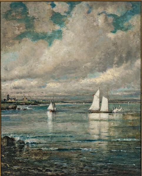 Edmund Darch Lewis, 'Cliffs at Newport'