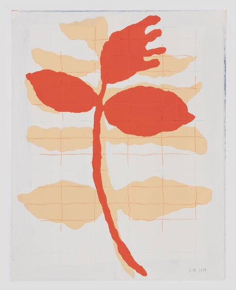 Ulrike Müller, 'Rote Blume', 2018