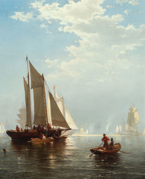 Edward Moran, 'New York Harbor', 1874