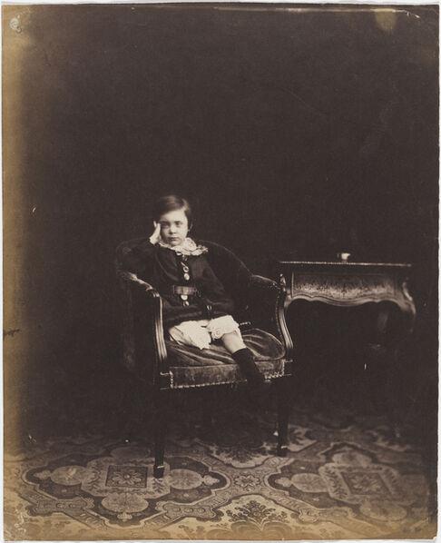 Roger Fenton, 'Portrait of Prince Alfred', 1854