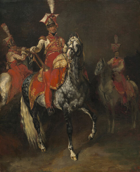 Théodore Géricault, 'Mounted Trumpeters of Napoleon's Imperial Guard', 1813/1814