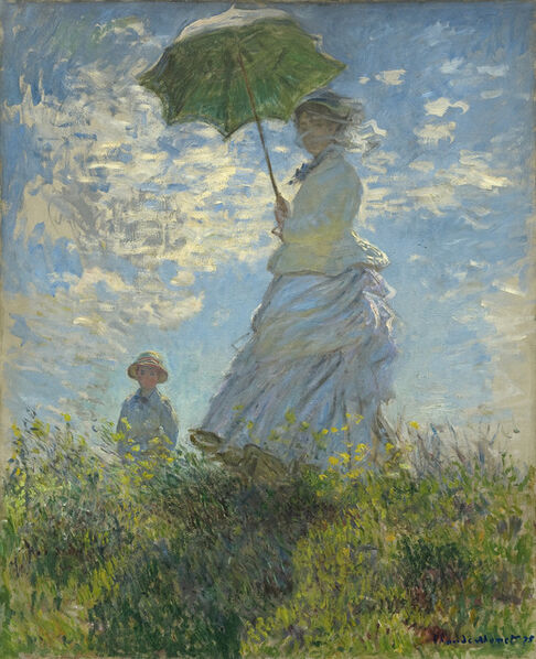 Claude Monet, 'Woman with a Parasol - Madame Monet and Her Son', 1875
