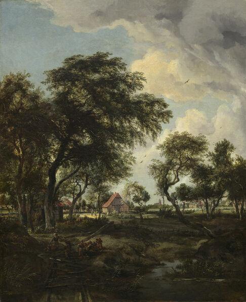 Meindert Hobbema, 'A Farm in the Sunlight', 1668