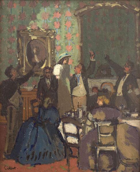Walter Richard Sickert, 'The Toast 'Trelawny of the Wells' ', 1898