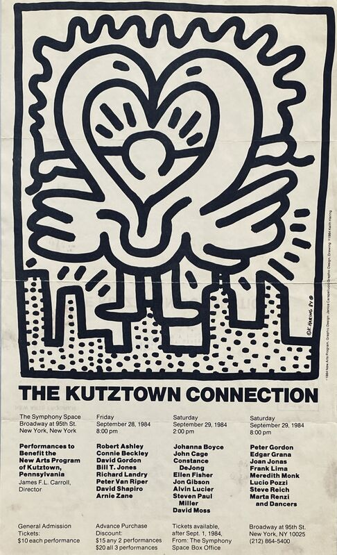 Keith Haring, 'Keith Haring Kutztown Connection 1984 (Keith Haring prints posters)', 1984, Posters, Offset printed, Lot 180