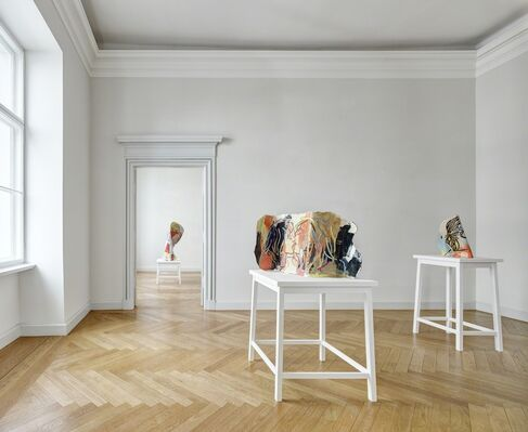 GHADA AMER, installation view
