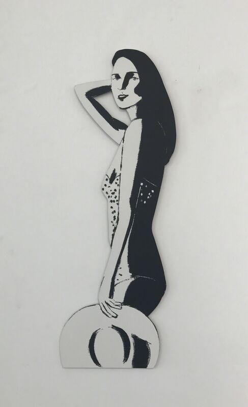 Alex Katz, 'Ariel (cutout)', 2016, Mixed Media, Baked archival UV inks on shaped powder-coated aluminum, Gregg Shienbaum Fine Art