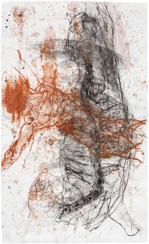 Christian Lemmerz, 'Reservoir', 2016, Drawing, Collage or other Work on Paper, Charcoal and red chalk on paper, Hans Alf Gallery