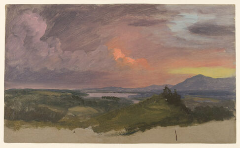 Frederic Edwin Church, 'Sunset in the Hudson Valley', 1870-1875